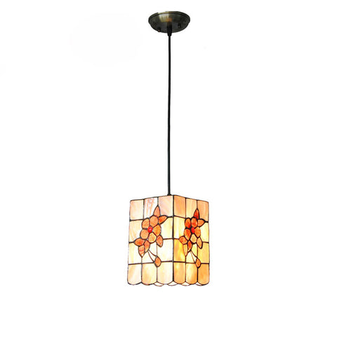 7 Inch Tiffany Cube Shell Pendant Lamp PL639