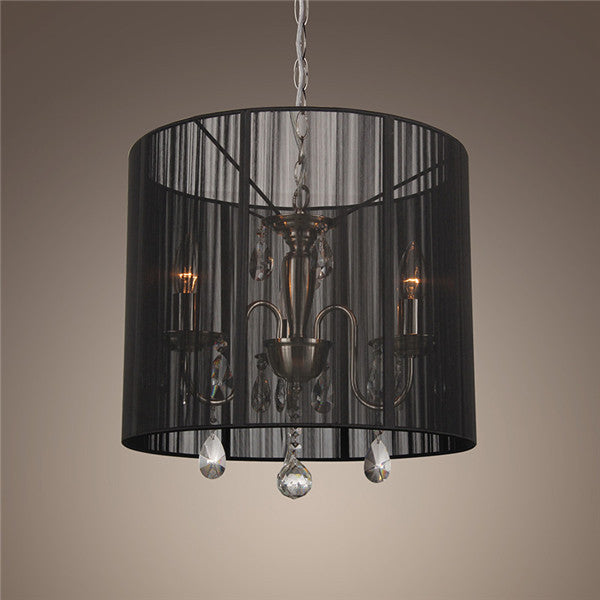 Crystal Shade Round Pendant Light PL440 - Cheerhuzz
