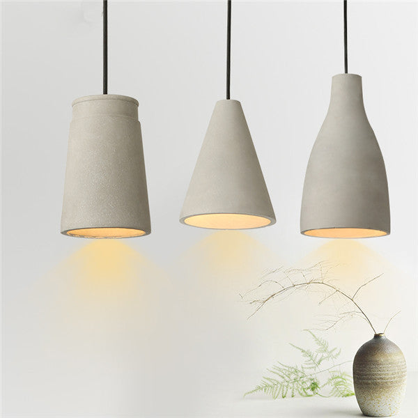 Antiqued Concrete Pendant Hanging Light PL449