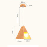 Wood Single-head Pendant Lamp PL459