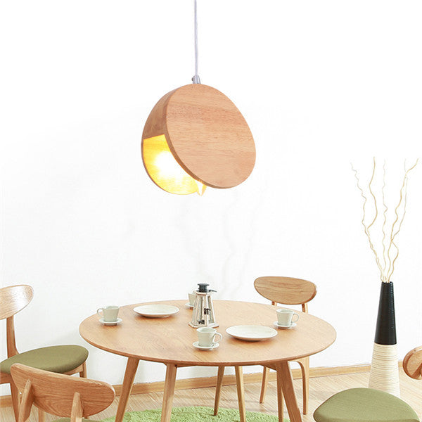 Wood Single-head Pendant Lamp PL459 - Cheerhuzz