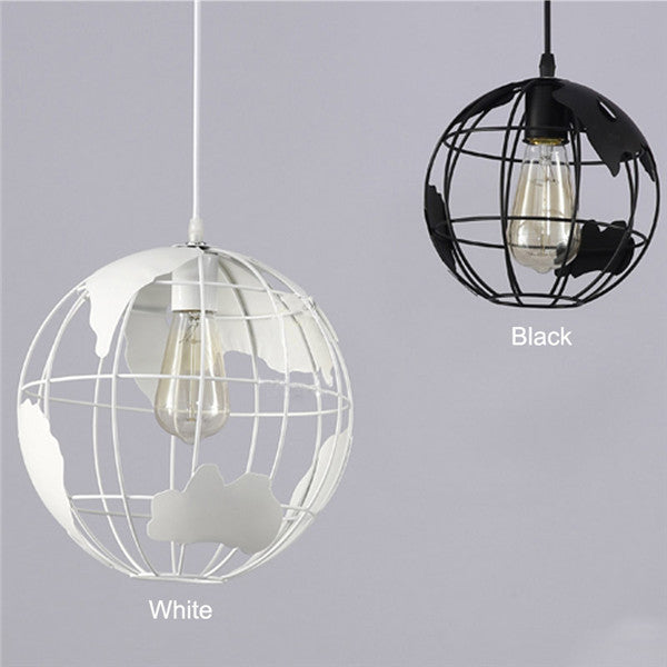 Retro Iron Earth Pendant Light PL464 - Cheerhuzz