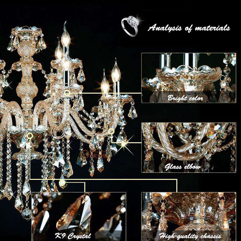 Luxury Amber Crystal Pendant Light PL473