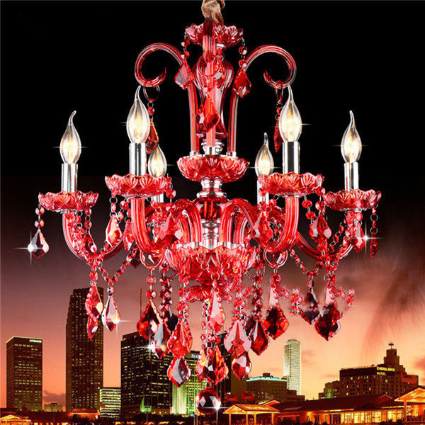 Modern Luxury Red Crystal Pendant Lamp PL477