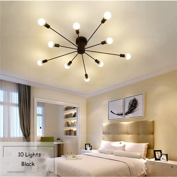 Modern Nordic Ceiling Lamp Iron Chandelier PL490 - Cheerhuzz