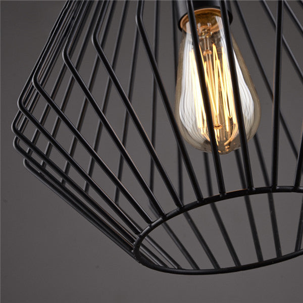 Nordic Retro Black Iron Pendant Lamp PL494