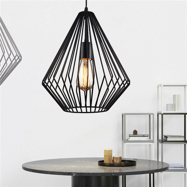 Nordic Retro Black Iron Pendant Lamp PL494 - Cheerhuzz