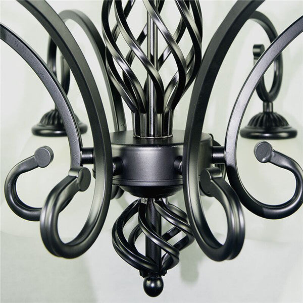 Vintage Retro Black Iron Chandelier PL495 - Cheerhuzz