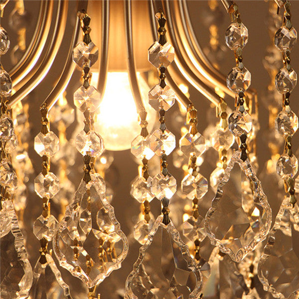 Retro Luxury Crystal Pendant Lamp PL499-L
