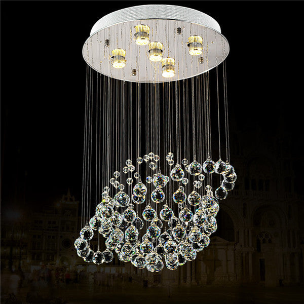 Crystal Spherical Rain Drop Chandelier PL500 - Cheerhuzz