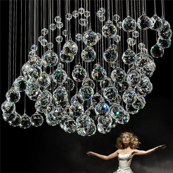 Crystal Spherical Rain Drop Chandelier PL500