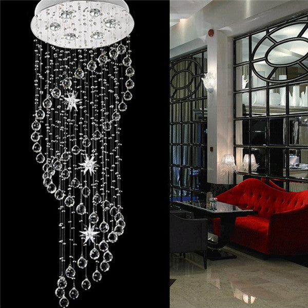 Modern Staircase Spiral LED Crystal Pendant Lamp PL501-50