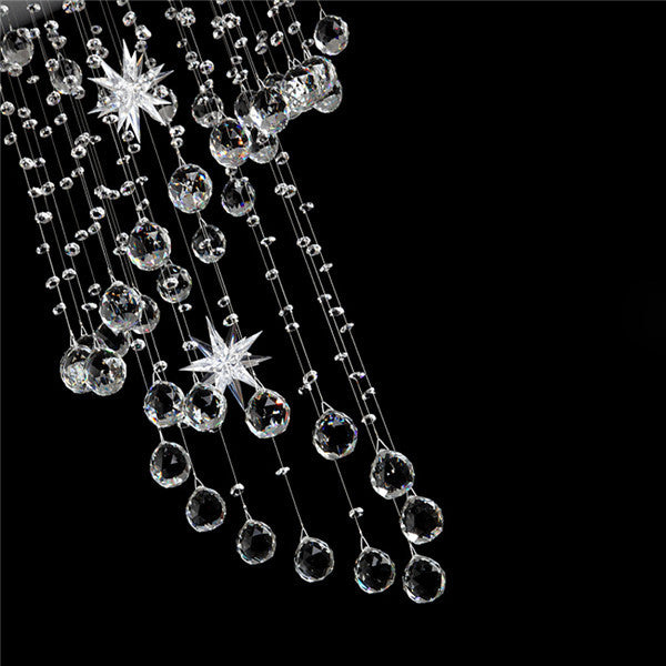 Modern Staircase Spiral LED Crystal Pendant Lamp PL501-50 - Cheerhuzz
