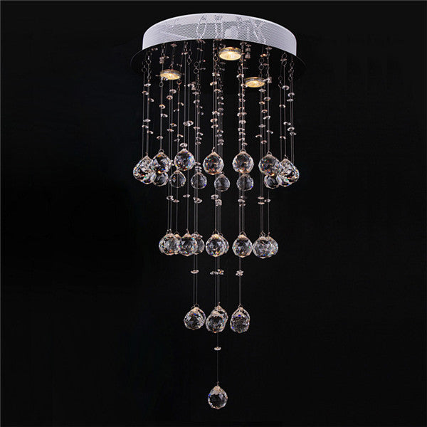 Luxury RainDrop Round Crystal Ceiling Lighting PL505 - Cheerhuzz