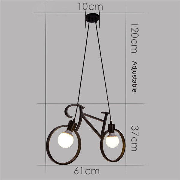 Vintage Bicycle Iron Pendant Light PL511