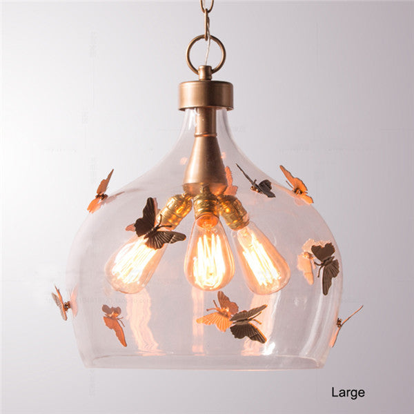 Retro Butterfly Glass Pendant Lamp PL525 - Cheerhuzz