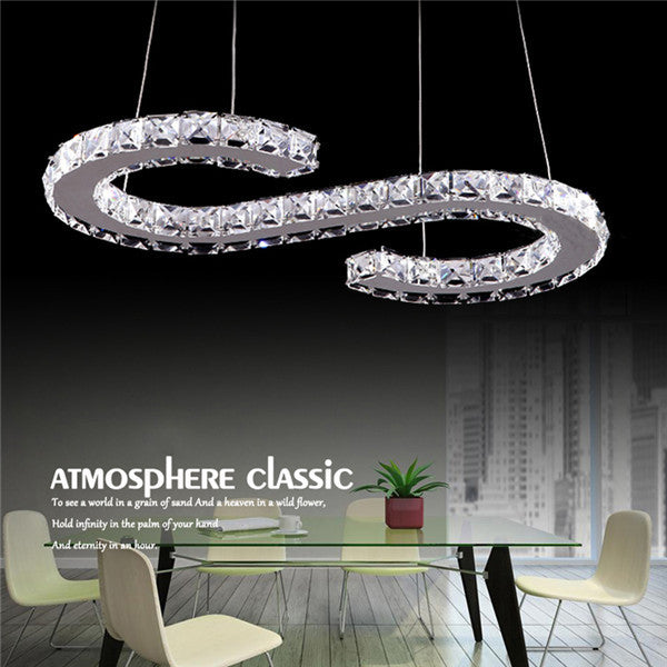 Modern S Crystal LED Chandelier Pendant Lamp PL530
