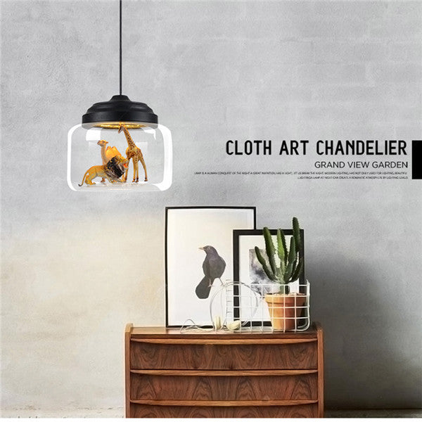 Modern Glass Chandelier 18W LED Pendant Light PL532 - Cheerhuzz