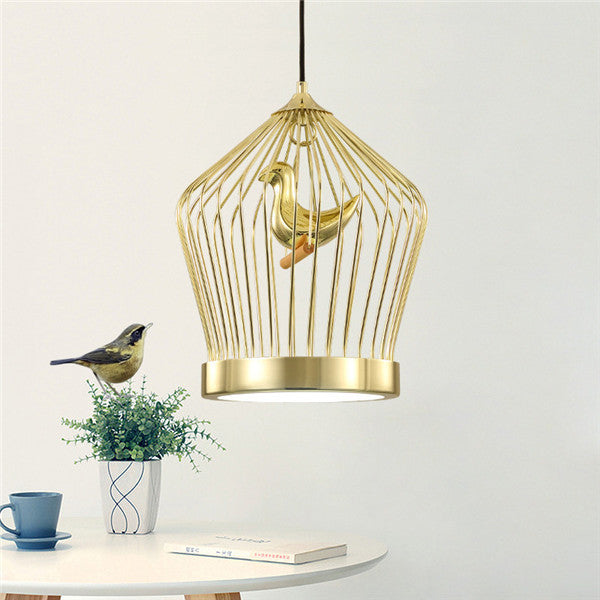 Modern gold birdcage pendant lamp pl536 cheerhuzz modern gold birdcage pendant lamp pl536 aloadofball Image collections