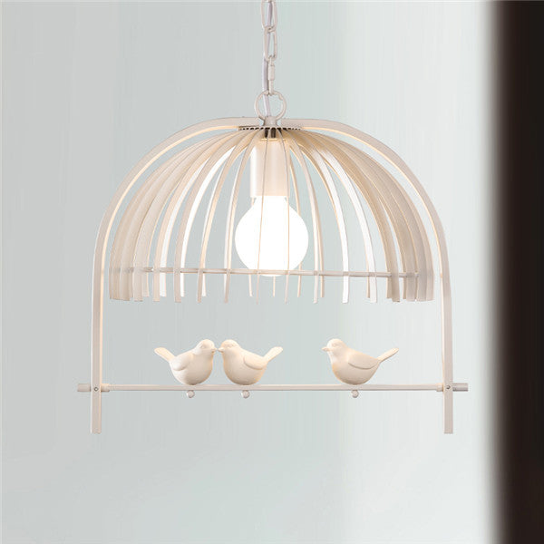 European Iron Birdcage Chandelier Lighting PL541