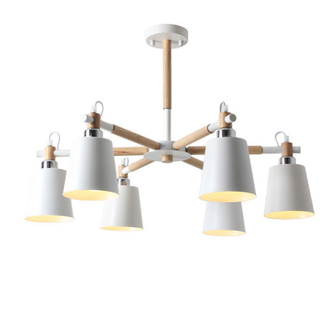 Modern 4/5 Lights Wood Chandelier Light PL632