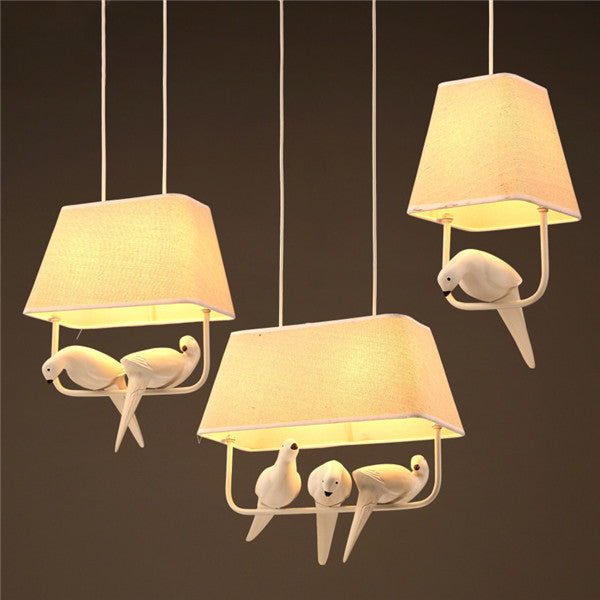Resin Bird Pendant Lamp PL567