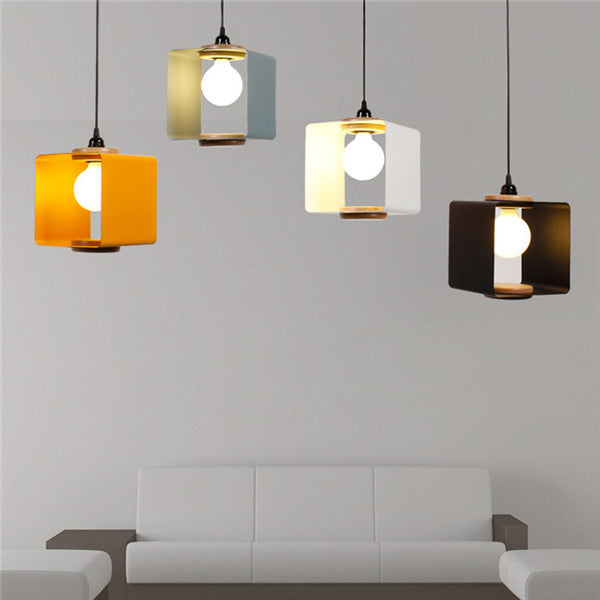 Modern Wood Metal Pendant Light PL580 - Cheerhuzz
