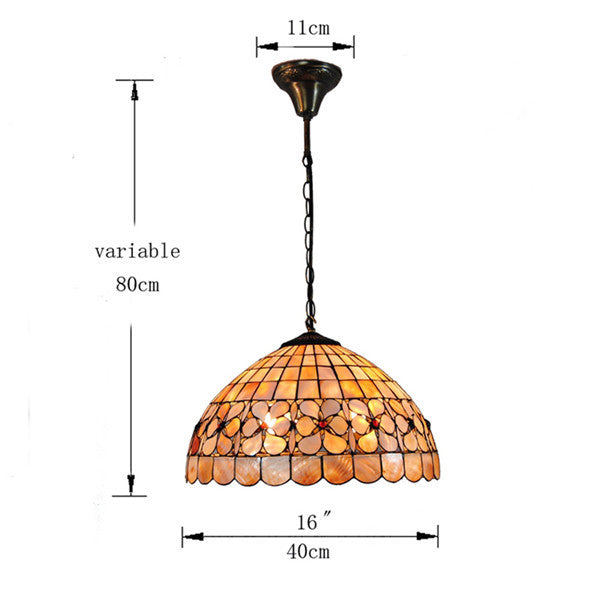 Tiffany Hanging Lamp Stained Glass Pendant Light PL583 - Cheerhuzz