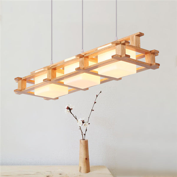 Retro 3 Lights Wood Pendant Lamp PL587 - Cheerhuzz