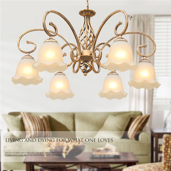 Retro Glass Shade Pendant Lamp PL592 - Cheerhuzz