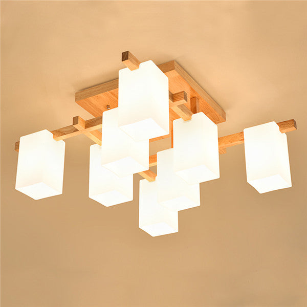 Nordic Simple Wood Ceiling Light PL601