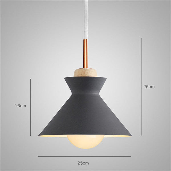 Nordic Metal Wood Ceiling Light PL604