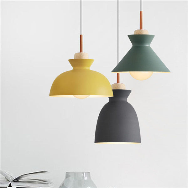 Nordic Metal Wood Ceiling Light PL604 - Cheerhuzz