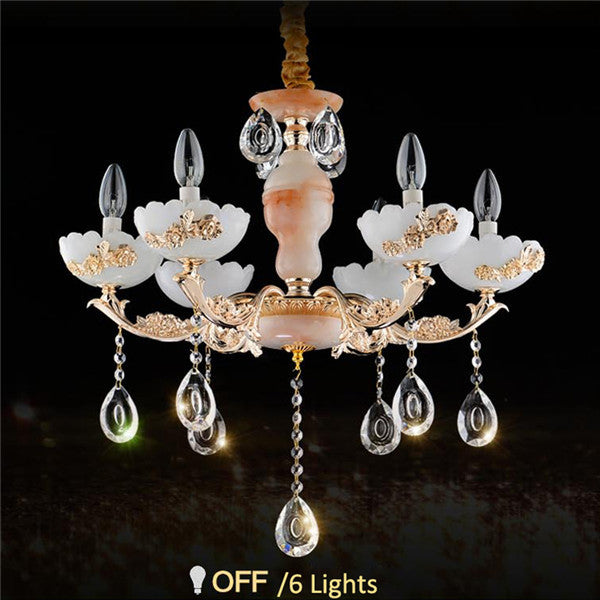 European Luxury Crystal Chandelier Fixture PL605 - Cheerhuzz