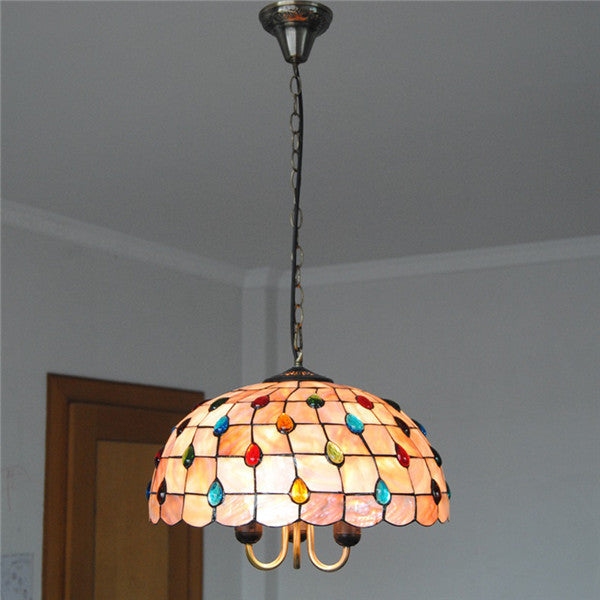 16 Inch Stained Glass Pendant Light PL606