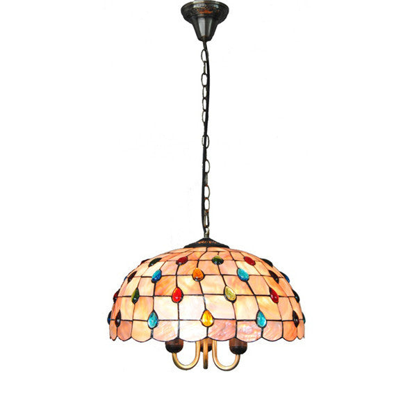 16 Inch Stained Glass Pendant Light PL606 - Cheerhuzz