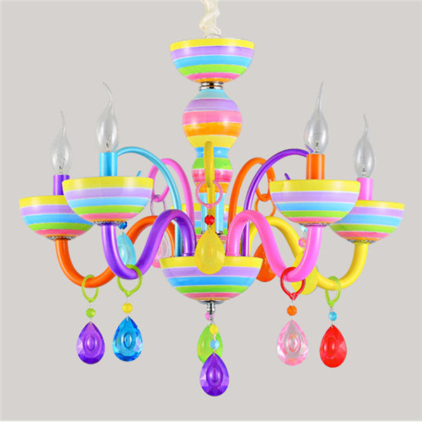 Modern Colorful Crystal Chandelier Fixture PL613-5 - Cheerhuzz