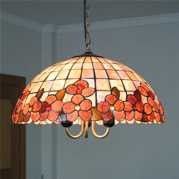 Stained Glass Tiffany Shell Pendant Lights PL614 - Cheerhuzz