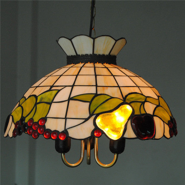 Tiffany Fruits Stained Glass Ceiling Lamp PL615 - Cheerhuzz