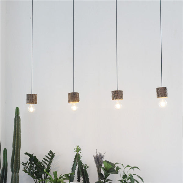 Simple 3 Lights Wooden Pendant Light PL622 - Cheerhuzz