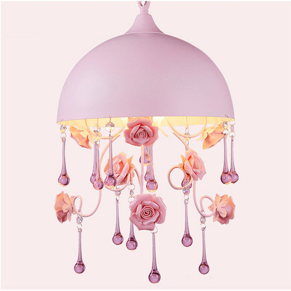 Dia.30cm Pink Rose Children's Room Pendant Light PL624