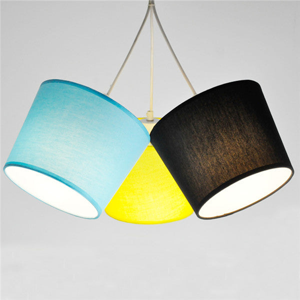 Modern Art Fabric Shade Pendant Lamp PL626 - Cheerhuzz