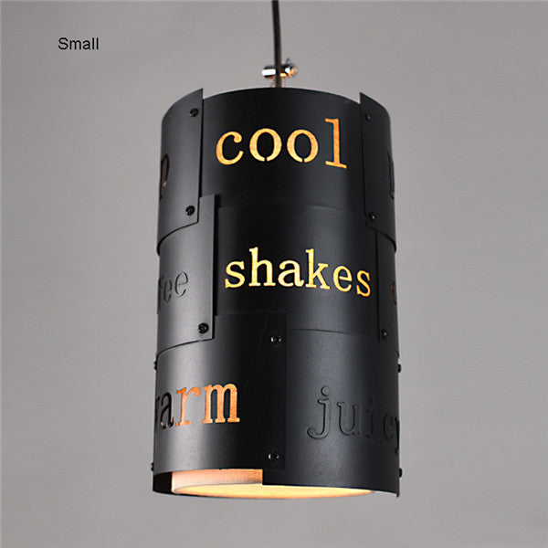 Retro Industrial Loft English Letter Pendant Light PL628