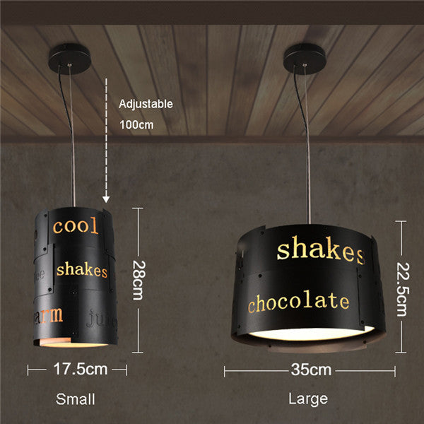 Retro Industrial Loft English Letter Pendant Light PL628 - Cheerhuzz