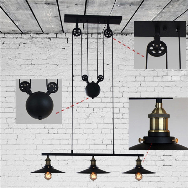 Adjustable pulley chandelier light pl630 cheerhuzz adjustable pulley chandelier light pl630 aloadofball Image collections