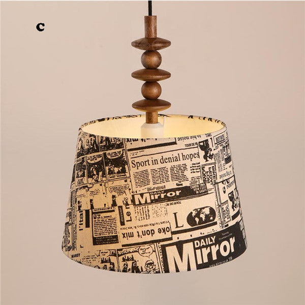 Nordic Cloth Shade Chandelier Lamp PL636