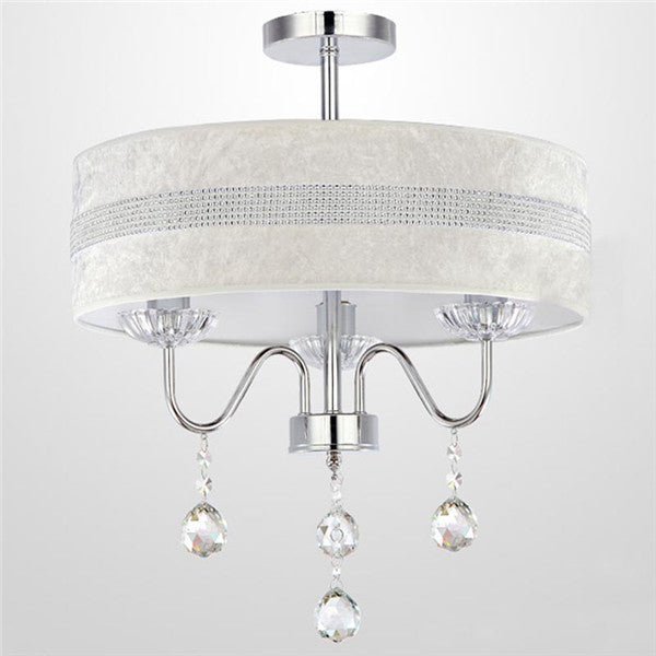 Dia.40cm Crystal Drum Pendant Light PL637-40 - Cheerhuzz