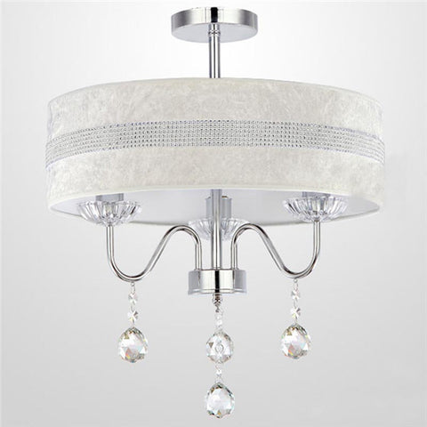 Dia.40cm Crystal Drum Pendant Light PL637-40