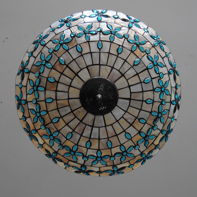 20 Inch Tiffany Stained Glass Chandelier PL640