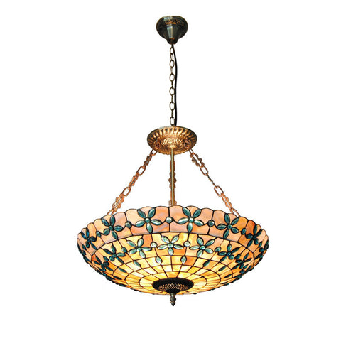 Retro Glass White Lotus Pendant Lamp PL493
